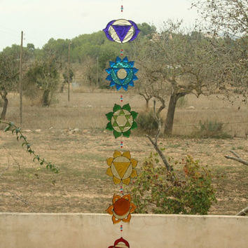 Suncatcher Set of 7 Chakras yoga