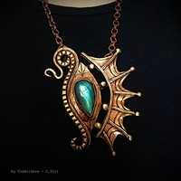 The Eye Of The Dragon Bronze Necklace Pendant With Flashy Labradorite 1013