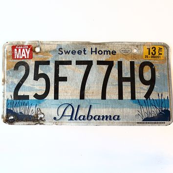 2013 Alabama Sweet Home License Plate 25F77H9