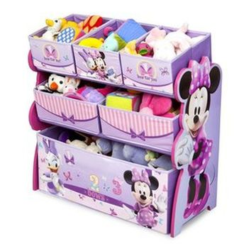 Disney Minnie Mouse Multi-Bin Toy Organizer Kids Room Storage and Furniture