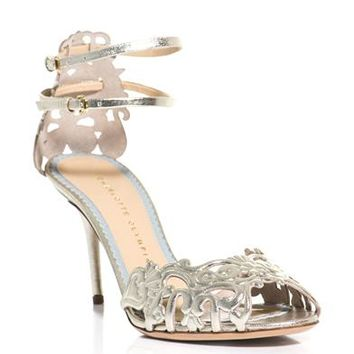 Margherita metallic leather sandals | Charlotte Olympia | MATC...