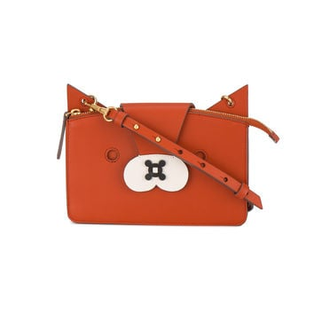 Anya Hindmarch Mini Orange Leather Fox bag - ShopBAZAAR