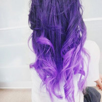 FULL HEAD // Purple // clip in extensions //  (10pcs)