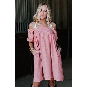 Change In Time Tunic Dress - Coral