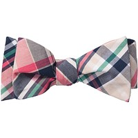 Madras Bow Tie in Navy by Southern Proper