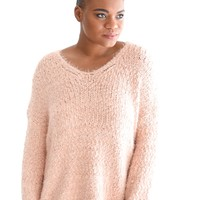 Float On Sweater In Blush