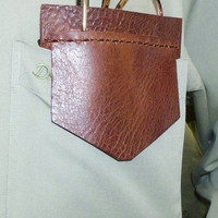 Brown Leather Pocket Protector sleeve