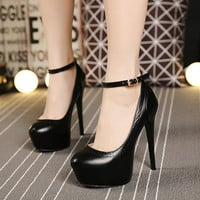 Water Proof Korean Waterproof High Heel Shoes = 4814763716