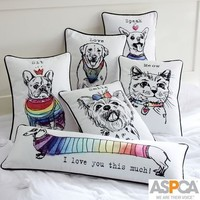 Watercolor Pet Pillow Cover