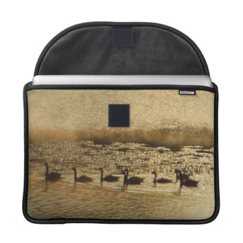 Geese on Golden Pond MacBook Pro Sleeve