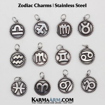 Charm: Zodiac | Astrology | Stainless Steel