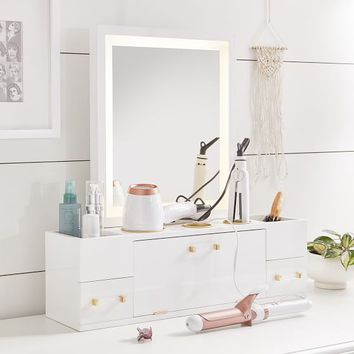 Light Up Beauty Storage Mirror