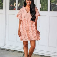 Bella and Bloom Boutique: Boho Bliss Dress: Peach