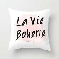 La vie Boheme Throw Pillow by Miss Modern Shop | Society6
