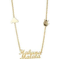 Gold Plated Timon And Pumba Hakuna Matata Lion King Necklace From Disney Couture : TruffleShuffle.com