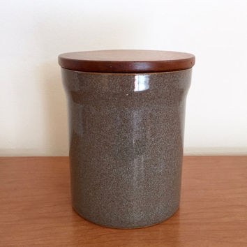Vintage Denby Greystone Stoneware Canister/Jar with Lid