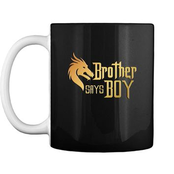 Cool Brother Say Boy Blue Gender Reaveal Announcement Mug