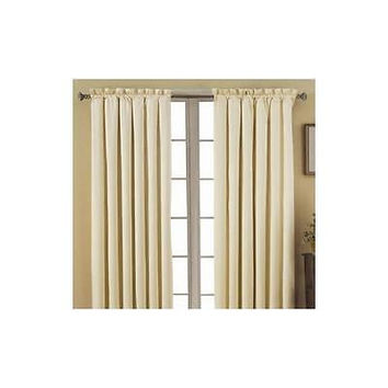Eclipse Canova Blackout Energy-Efficient Curtain Panel Ivory 42 X 63