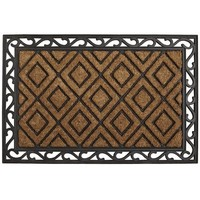 Diamond Coir with Rubber Scroll Doormat