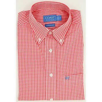 Huntington Shirt in Grapefruit Pink by Coast - FINAL SALE