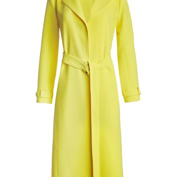 Rolanda Large Lapel Coat With Belt | Alice + Olivia