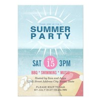Party for Summer / Beach / Pool / Summer Wedding Card