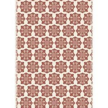 Modern European Design  Size Rug: 4ft x 6ft red & white color with a weather aged finish super durable and multilayer technical grade vinyl rug.
