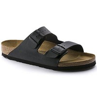 Birkenstock Women's Arizona Birko-Flor Black Sandals (N)