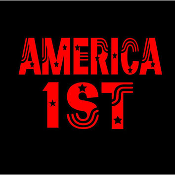 America 1st Decal America First CustomVinyl Decal Sticker car decal window decal