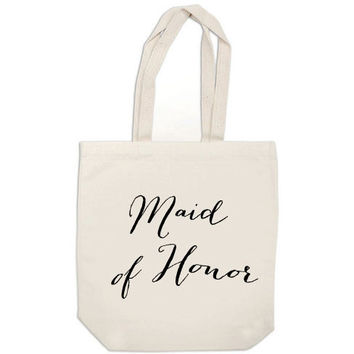 Maid of Honor tote gift bridesmaid gift bag bridal party canvas tote bag