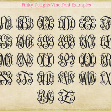 Lilly Pulitzer Vine Monogram Decal Mai Tai by PinkyDesign on Etsy