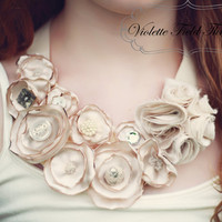 Delilah Statement Necklace PDF Pattern by VioletteFieldThreads