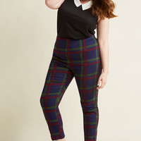 Collectif So Glad It's Plaid High-Waisted Pants