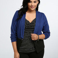 Color Block Shawl Collar Blazer