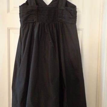 Vintage Black Hippie Couture Dress