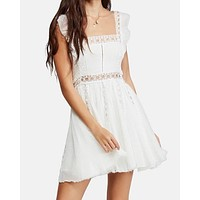 Free People - Verona Mini Dress - Ivory