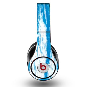The Running Blue WaterColor Paint Skin for the Original Beats by Dre Studio Headphones