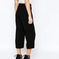 New Look Tall | New Look Tall Crepe Tie Waist Culottes at ASOS