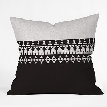 Viviana Gonzalez Black and white collection 04 Throw Pillow