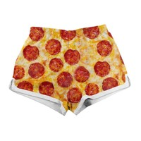 Party Pizza Women's Shorts
