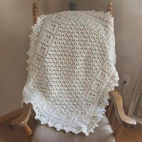 Baby Afghan in pastels by TheNeedleHouse on Zibbet