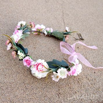 Dainty Pink Flower Crown