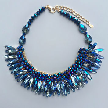 Sarah Crystal Statement Necklace