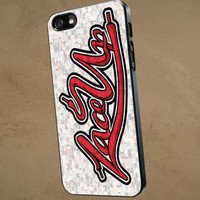MGK Machine Gun Kely Lace Up - iPhone 4/4s case Black/White Case
