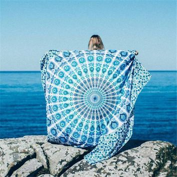 NEW 150x210xcm Beach Towel Indian Mandala Tapestry Wall Hanging Tapestry Printed Bedspread Cover Yoga Mat Blanket Picnic Cloth