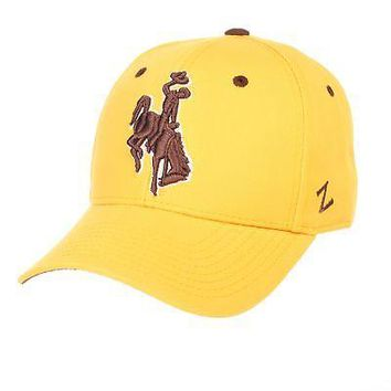Licensed Wyoming Cowboys Official NCAA DHS Size 7 Fitted Hat Cap by Zephyr 566411 KO_19_1