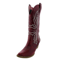 Private Label Womens Arianna Distressed Mid-Calf Cowboy, Western Boots