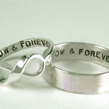 His Posey Her Infinity NOW & FOREVER Rings II