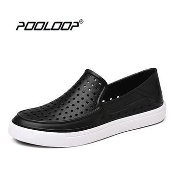 POOLOOP Slip On Native Sneakers Mens Classic Garden Crocus Clogs Breathable Fashion Flats For Men Lightweight Beach Sandals