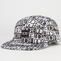 Dope Sticker Bomb Mens 5 Panel Hat Black/White One Size For Men 23597012501